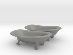 HO Scale Clawfoot Bathtubs in Gray PA12