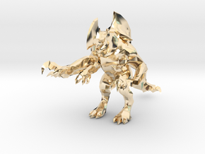 Pacific Rim Axehead Trespasser Kaiju Monster in 14K Yellow Gold