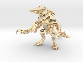 Pacific Rim Knifehead Kaiju Monster Miniature in 14k Gold Plated Brass