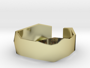 geommatrix f134  wristband 1 in 18k Gold Plated Brass