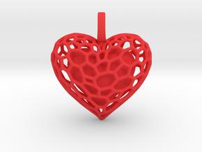 Inner Heart Pendant in Red Processed Versatile Plastic