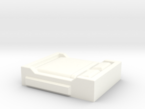 HO Scale Double Bed in White Processed Versatile Plastic