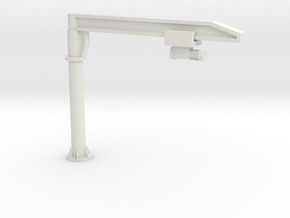 O Scale Column Jib Crane #1 in White Natural Versatile Plastic