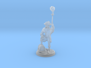 Orc Pirate with Gun and Smoke on 28mm Base in Smooth Fine Detail Plastic