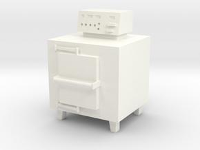 HO Scale Small Incinerator in White Processed Versatile Plastic