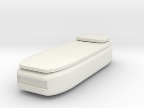 HO Scale Twin Bed in White Natural Versatile Plastic