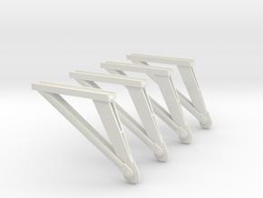 1:72 Scale S1B Struts in White Natural Versatile Plastic