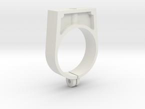 Boba Fett ESB Blaster Rear Barrel Mount clip in White Natural Versatile Plastic