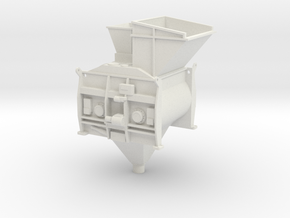 1/50th Twin Mixer Drum Cement Batch Plant in White Natural Versatile Plastic