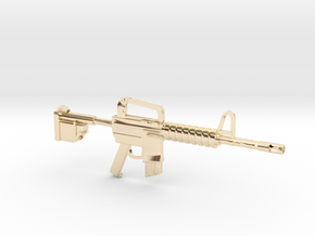 CAR15COLTCOMMANDO in 14k Gold Plated Brass
