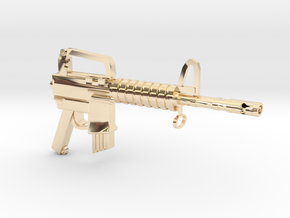 CAR15 SMG in 14k Gold Plated Brass