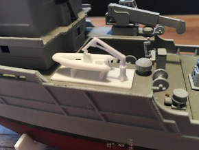 Apache fleet tug, RHIB add-on (1:200) in White Processed Versatile Plastic