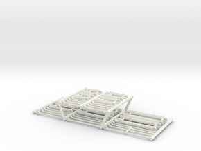 1/50th Hydraulic Cylinder Builders Set in White Natural Versatile Plastic