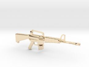M16A1 v1 in 14K Yellow Gold