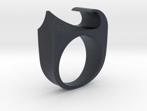 Devil Ring in Black PA12: 10 / 61.5