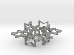 Star of David voronoi bracelet 7.5 inches approxim in Aluminum