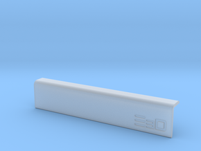Round Edge Wrist Saver for Desk (100mm Long) in Smooth Fine Detail Plastic