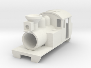 Fleelance design American tank locomotive in White Natural Versatile Plastic