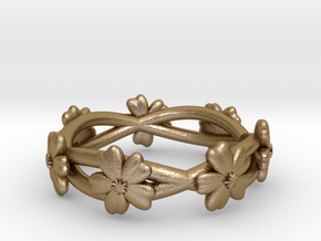 Forget Me Not Ring in Polished Gold Steel: 7 / 54
