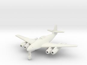 (1:144) Messerschmitt Me 262 W3 in White Natural Versatile Plastic
