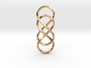 Double Infinity pendant in Polished Bronze