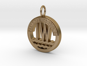 Inland Waterways Pendant in Polished Gold Steel