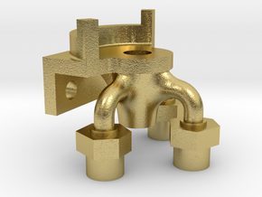 Water Scoop Operating Cock Body in Natural Brass