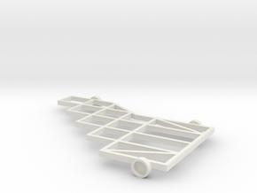 1/64 (s scale) 10 Platform Plow Mainframe in White Natural Versatile Plastic