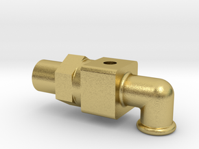 Water Valve Body in Natural Brass
