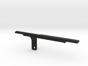 ThumbRail (Bridge Lefty)-fits Fender Amer Dlx 5 Ja in Black Natural Versatile Plastic