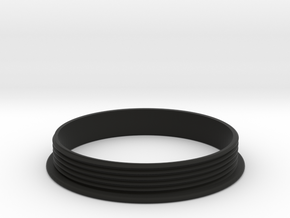 Distance Bracelet : Part 3  in Black Premium Versatile Plastic