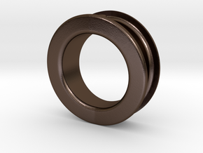 Eraser Ring in Polished Bronze Steel: 5.5 / 50.25