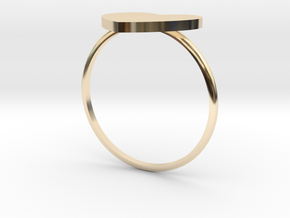 Thin Heart Ring  in 14K Yellow Gold: 5.5 / 50.25
