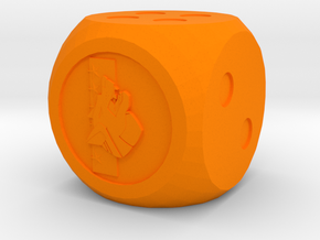 Clan Wolf Dice in Orange Processed Versatile Plastic