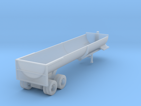 End Dump Trailer - Nscale in Smooth Fine Detail Plastic
