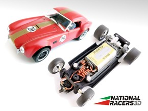3D Chassis - MRRC Shelby Cobra MO-35 (Inline) in Black Natural Versatile Plastic