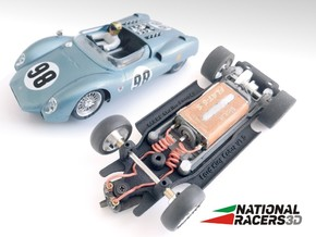 3D Chassis - MRRC King Cobra (Inline) in Black Natural Versatile Plastic