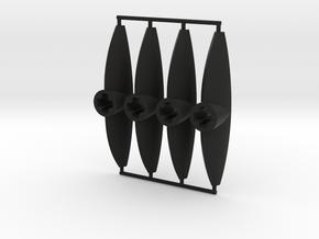 Eye Connectors Type 3 in Black Natural Versatile Plastic