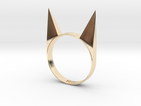 CATTACK in 14k Gold Plated Brass: 8.5 / 58