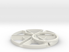 3 way trammel of archemedes in White Natural Versatile Plastic