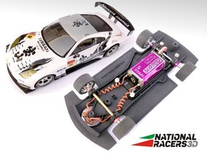 3D Chassis - Ninco Nissan 350Z (Combo) in Black Natural Versatile Plastic