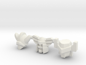 Acroyear Heads - Multiscale in White Natural Versatile Plastic: d3