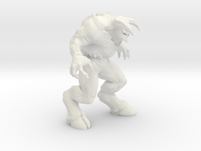 Baron of Hell Doom videogame 1/60 miniature rpg in White Natural Versatile Plastic