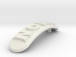 NORA Personalized Hair Barrete 30-35 in White Natural Versatile Plastic