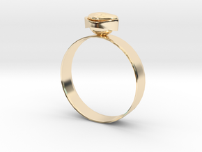 "GoldRing version3 ""Heart"" 5mm in 14K Yellow Gold"