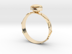 "GoldRing version 3a ""Heart""  in 14K Yellow Gold"
