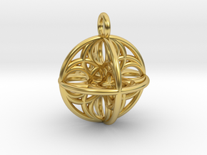 Eggsense 3D in Polished Brass