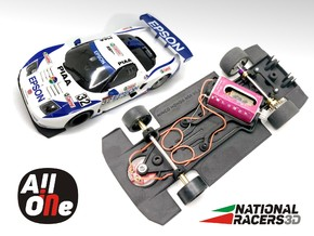 3D Chassis - NINCO Honda NSX (Anglewinder - AiO) in Black Natural Versatile Plastic