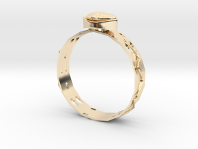 GoldRing MANYHOLES in 14K Yellow Gold