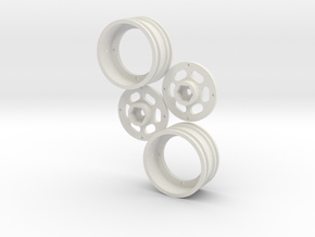 Adjustable offset 1.9 12mm hex rim package in White Natural Versatile Plastic: 1:10